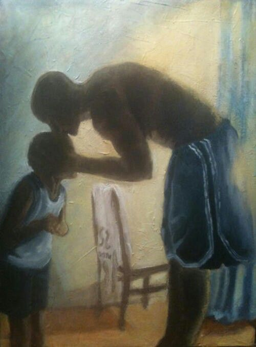 black father and son art