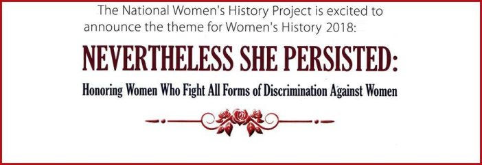womens history month 2018 theme